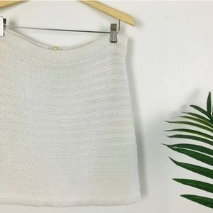 Madewell Wallace Knit Ivory Ribbed Boho Mini Skirt